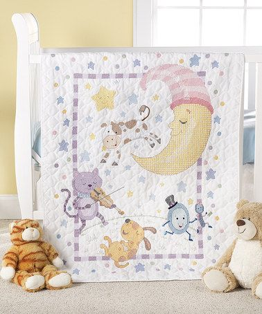 Another great find on #zulily! Hey Diddle Diddle Stamped Cross ... : bucilla cross stitch baby quilts - Adamdwight.com