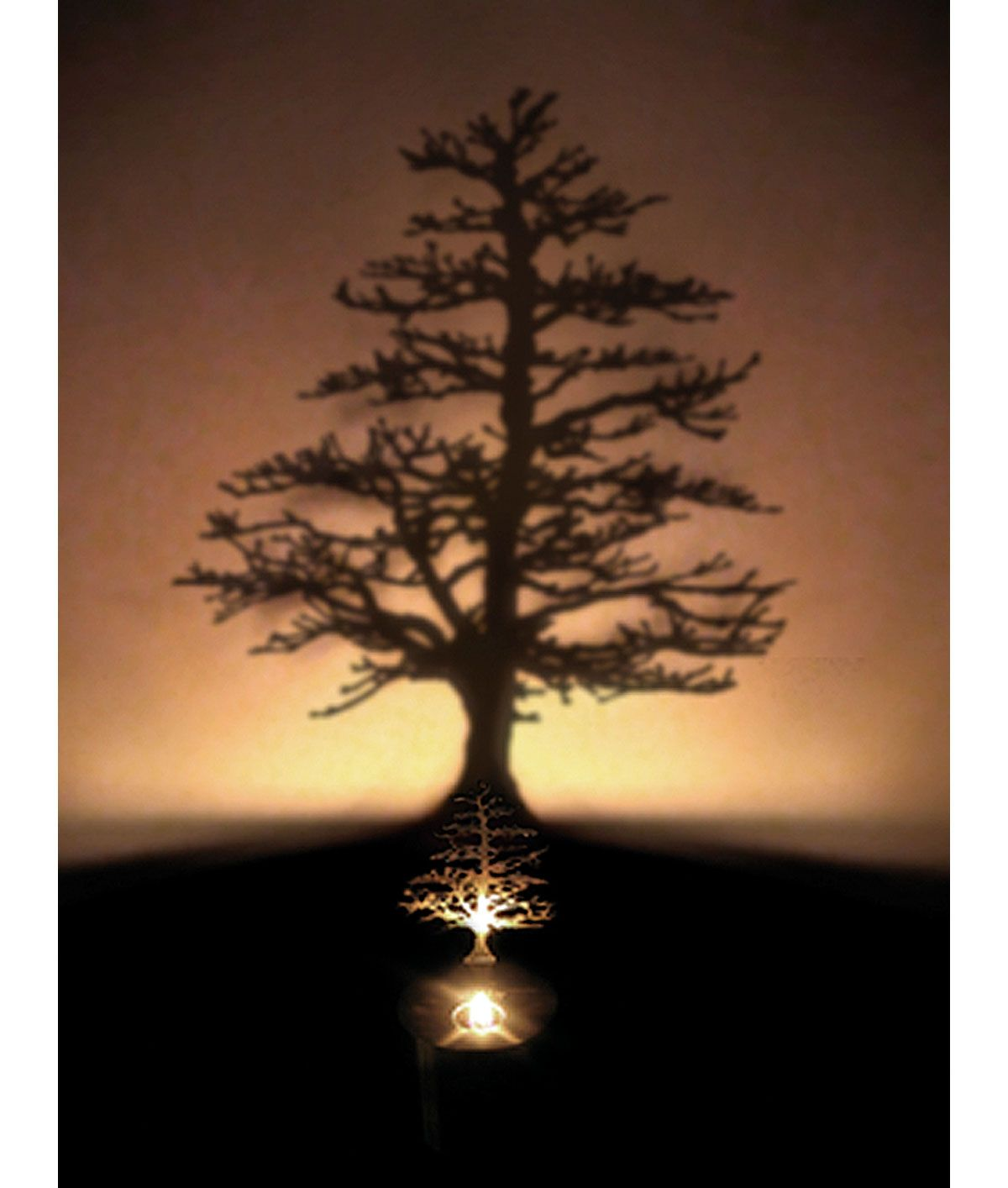 Lumen oil candle shadow projector. Casts a tree shadow, onto the wall. beautiful. $48