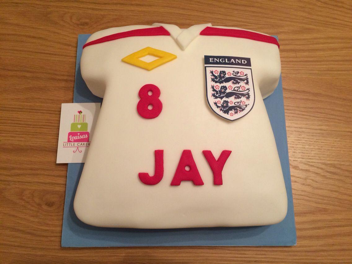 England Football Shirt Cake BirthdayCelebration Cakes - Birthday cake shirt