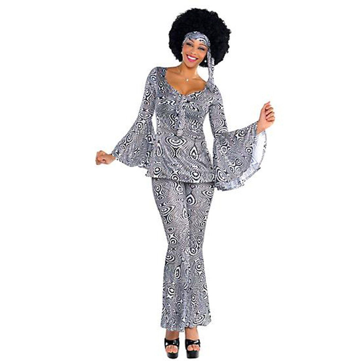 Dancing Queen Costume For Women Disco Costume 70s Fancy Dress Disco Outfit [ 1200 x 1200 Pixel ]