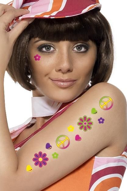 1b7a21d5cef flower power hippie makeup - Google Search