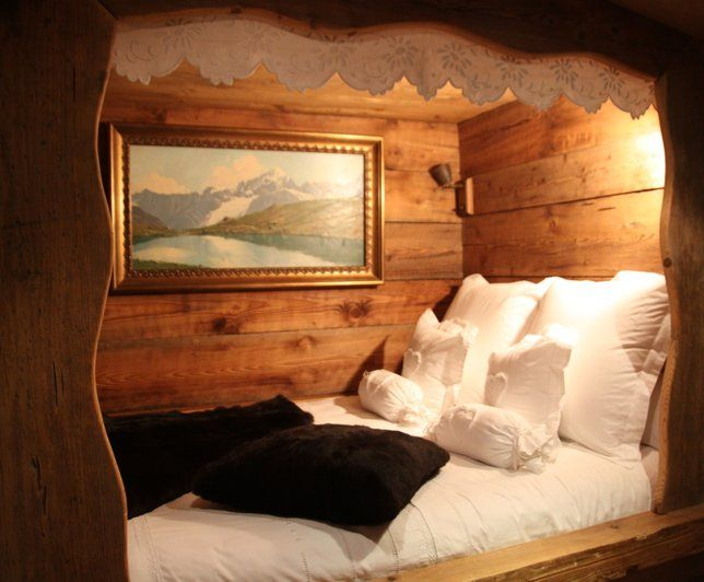 Photos déco : idées décoration de chambre style chalet | Chambre ...