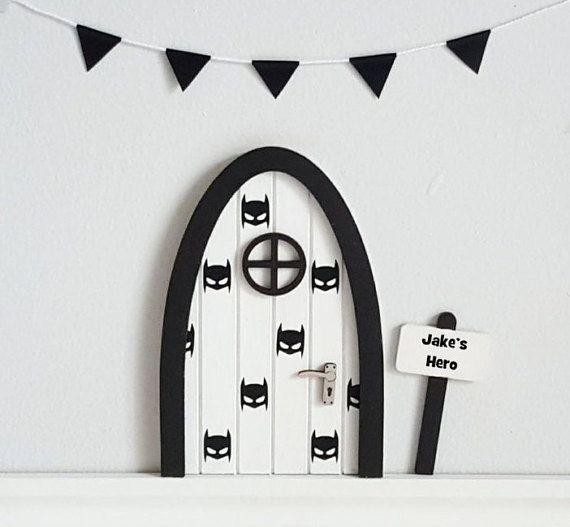 Personalised fairy door hero inspired batman door by for Batman fairy door