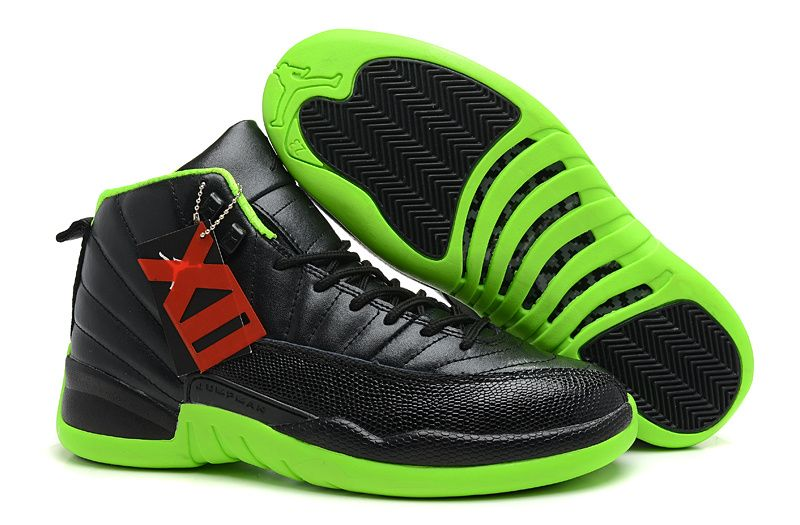 Air Jordan 12 Black Neon Green Air Jordans Retro Air Jordans