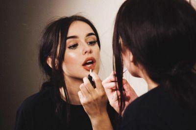 girl, acacia brinley, and lipstick image