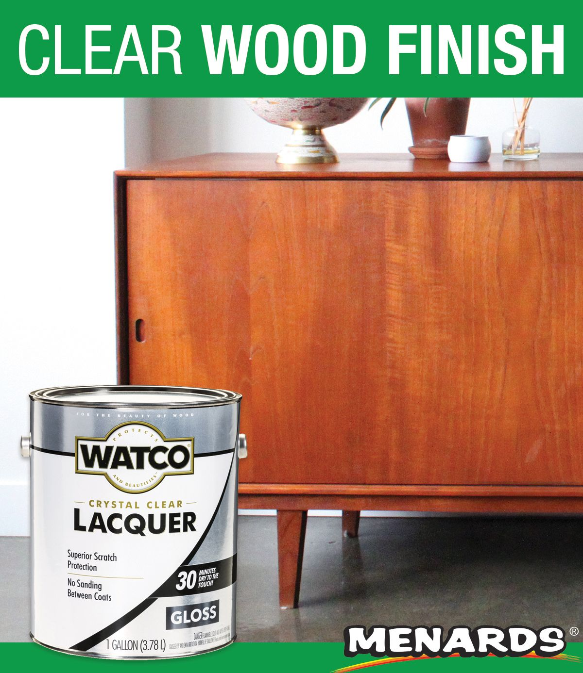 Watco Lacquer Clear Wood Finish Is The Finest Brushing Lacquer Available Watco Lacquer Fills In The Pores Of Most Wood Types In 2020 Wood Finish Watco Wood Filler