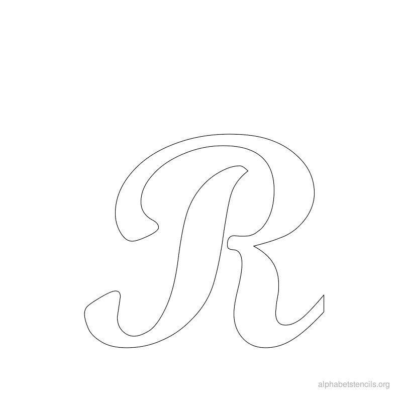 Print Free Alphabet Stencils Cursive R  Stencil Patterns