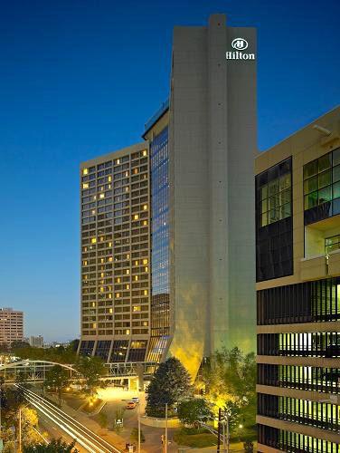 Hilton Hotel Atlanta Downtown Ga The Is Located In Georgia