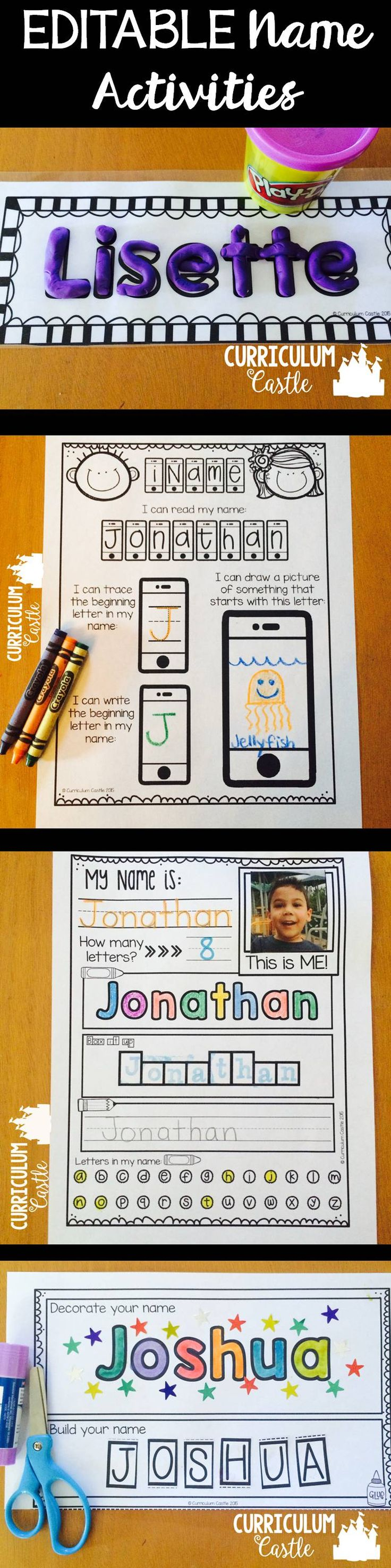 Name activities editable back to school beginning of for Heilpadagogik kindergarten