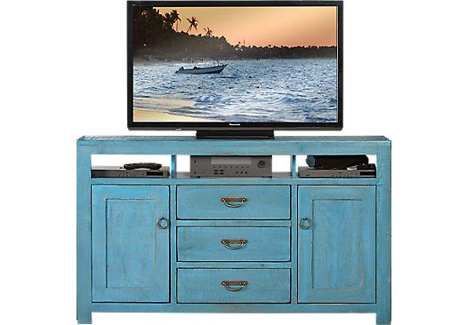 Picture Of South Creek Blue Console From Tv Consoles