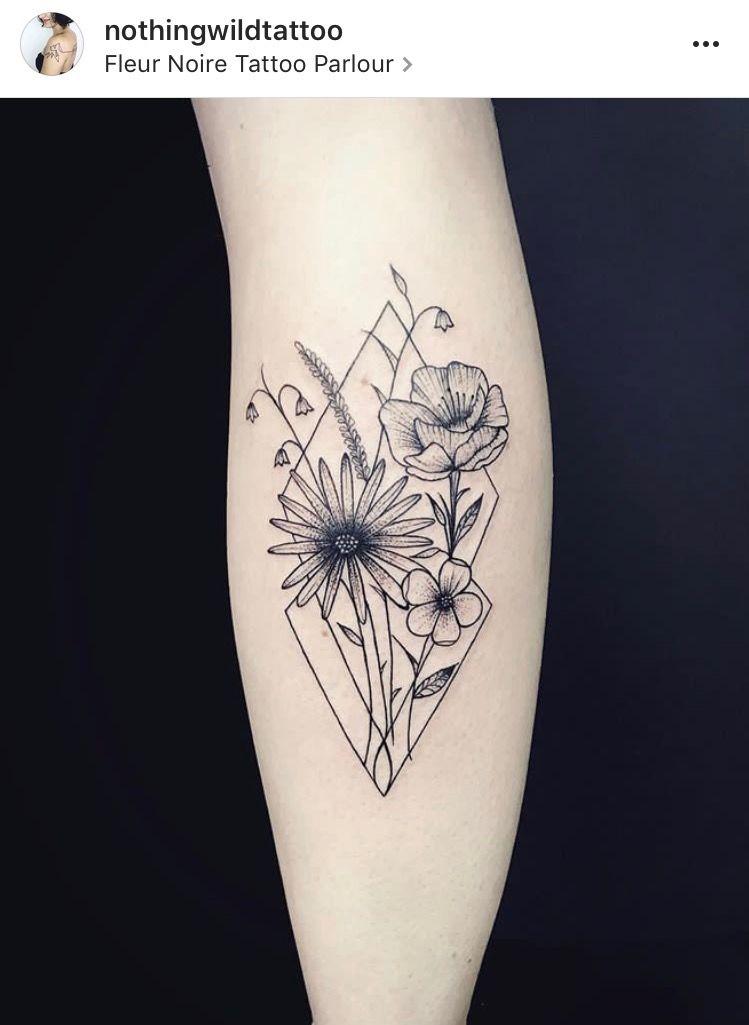 Beautiful Bouquet By Laura Nothingwildtattoo At Fleur Noire