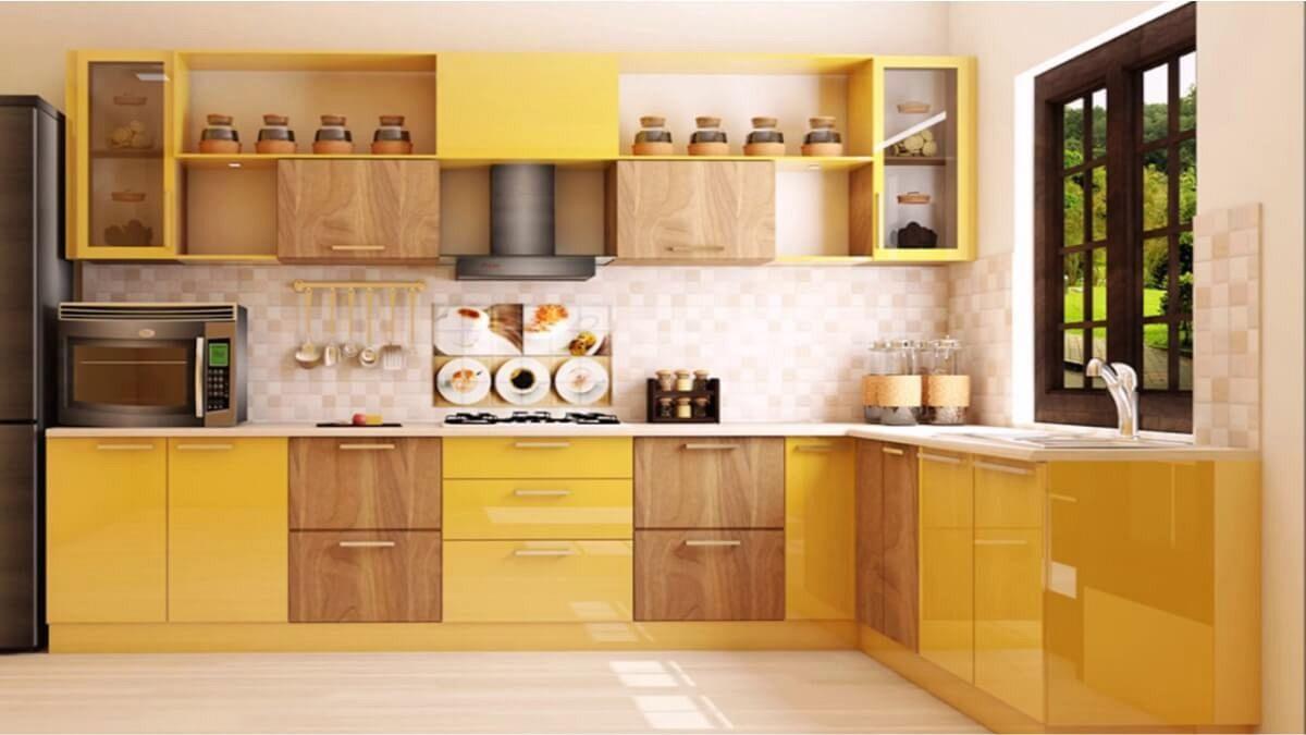 Small modular kitchen in kolkata with kitchen islands on ...