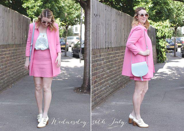 Pink Zara Co-ord   www.bumpkinbetty.com #fashion #pink #coord