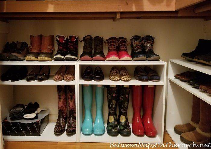 Attractive A Closet Update: Hacking Shelves For Boot U0026 Shoe Storage