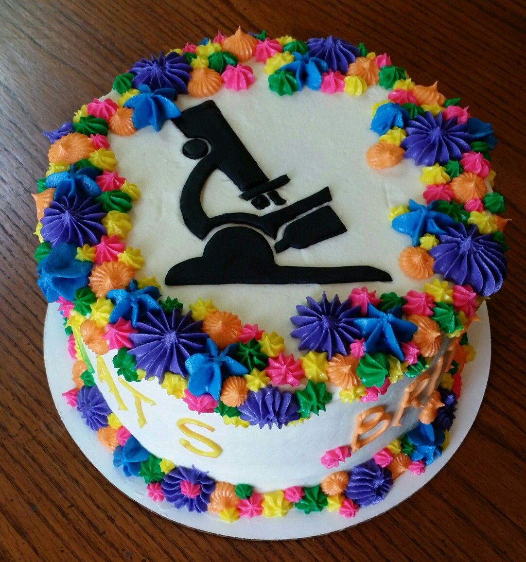 Microscope lab tech cake science cake bright cakes cake