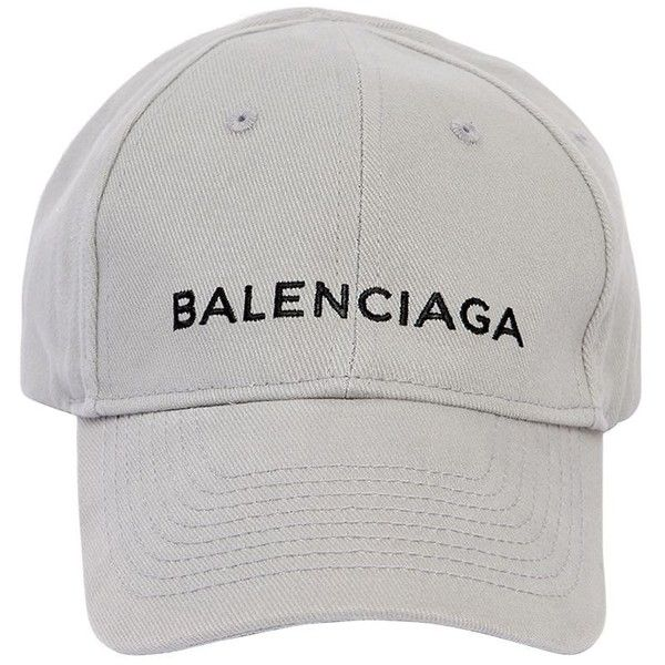 Balenciaga Women Classic Logo Cotton Hat ( 350) ❤ liked on Polyvore  featuring accessories f4d56df3884