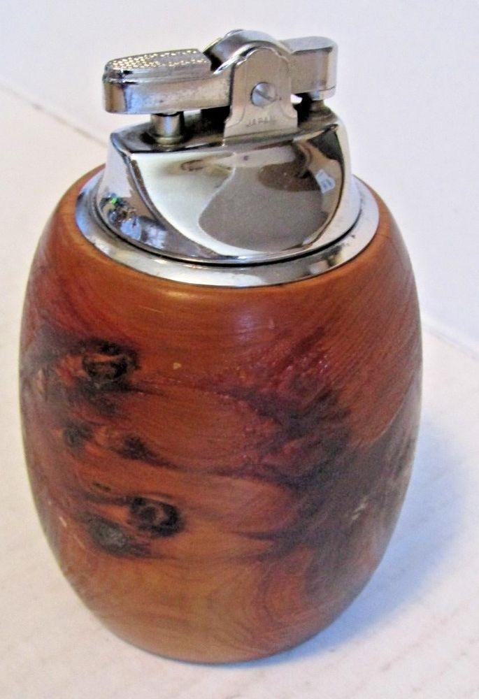 Working Vintage Table Lighter Bermuda Cedar Wood | Vintage ...