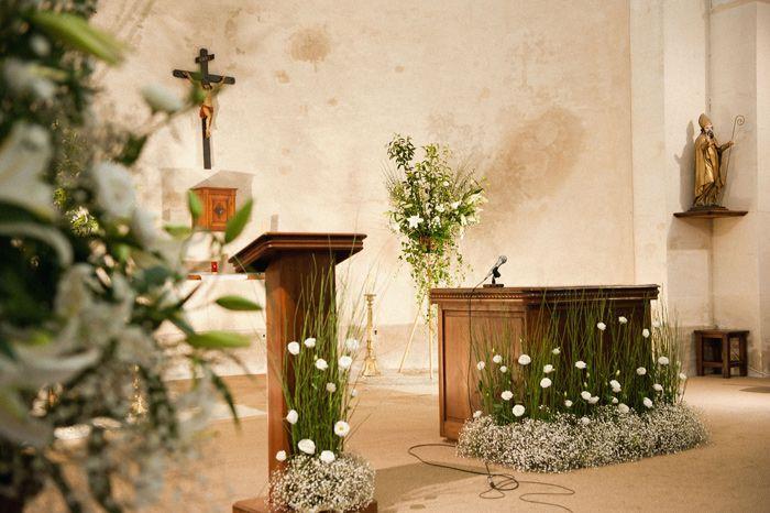 D coration de l 39 glise d coration florale pinterest for Decoration eglise