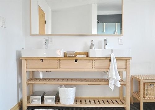 ikea hack norden occasional table as sink wohnen. Black Bedroom Furniture Sets. Home Design Ideas