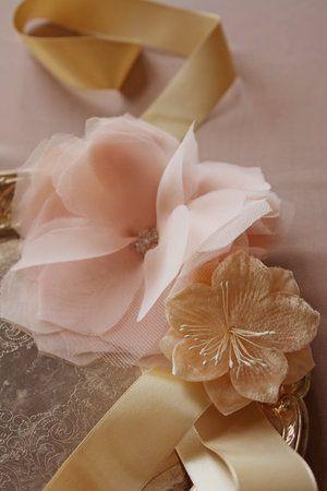 2 Chiffon Flowers Soft Fabric Rose Tulle Silk Flower Bridal Wedding Craft Supply