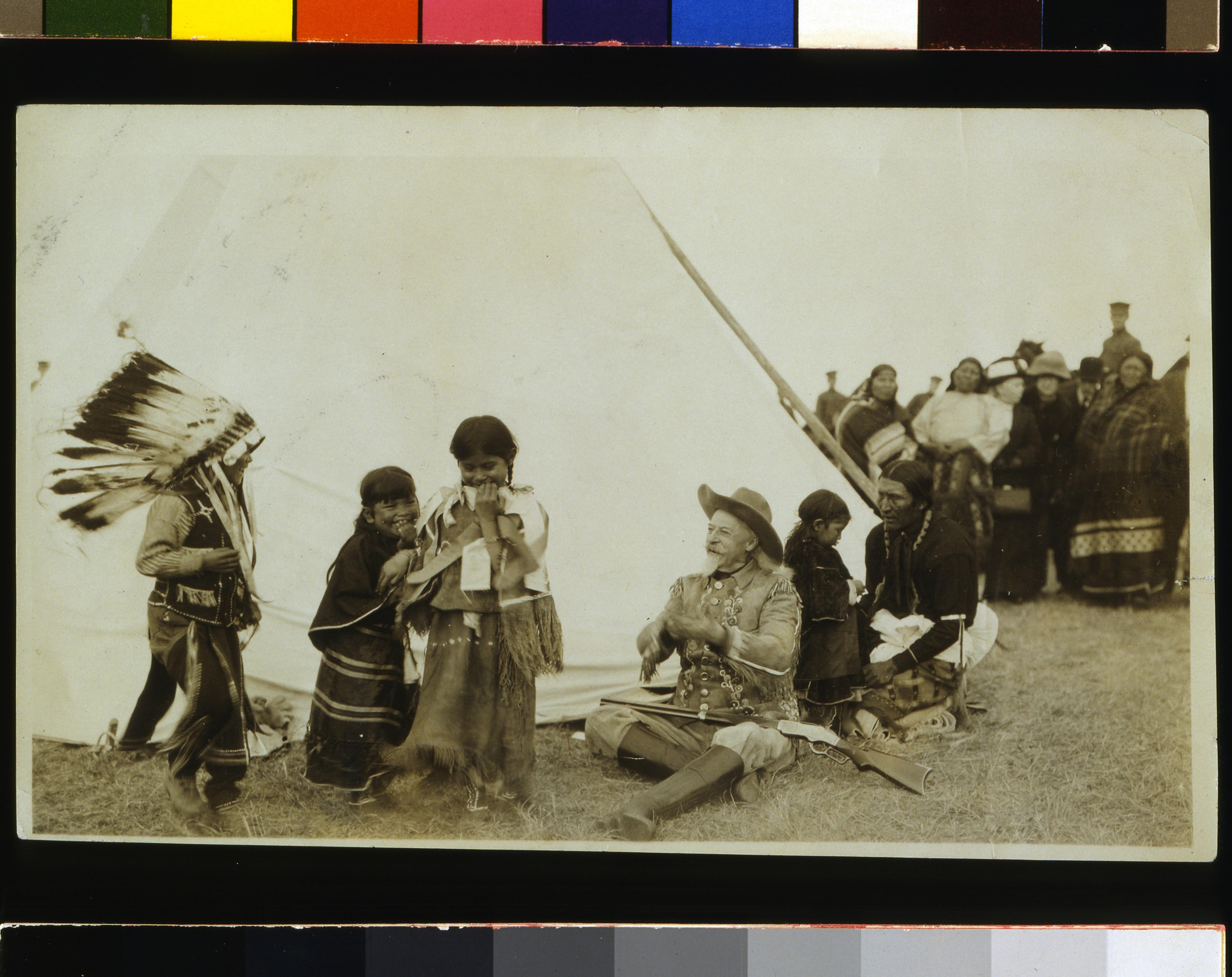 Plains Indian Children With Buffalo Bill