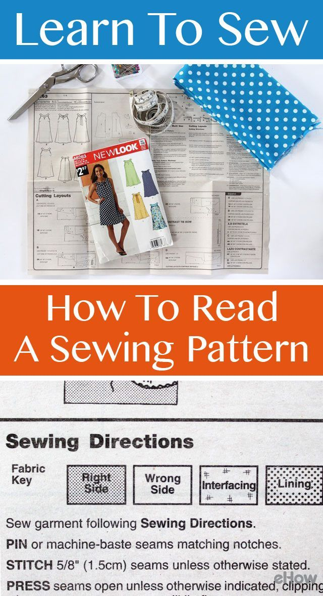 Learn to Sew: How to Read a Sewing Pattern | Pinterest | Sewing ...