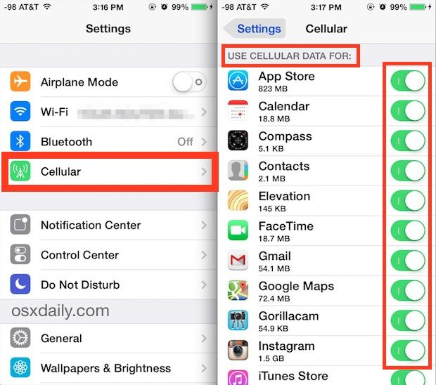 Learn how to control what apps can use cellular data in iOS
