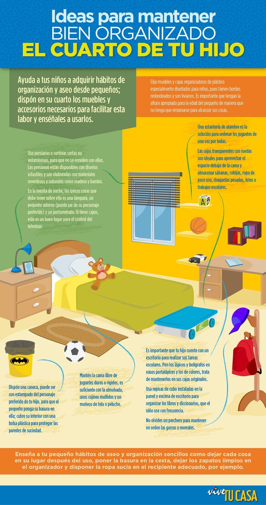 Tips para mantener organizado la habitacion de tus hijos for Organizacion de la habitacion del bebe