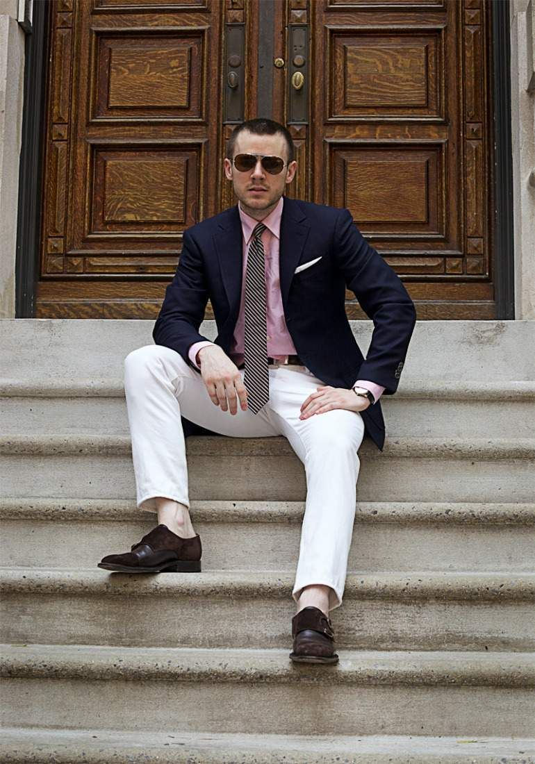 The Idle Man | Mens fashion suits, Summer business attire, White pants men