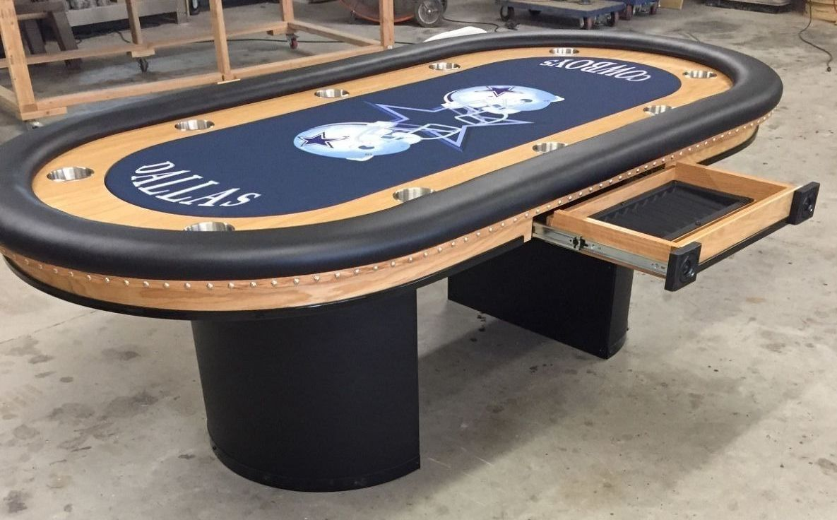Dallas Cowboys Custom Poker Table Poker Pokertables Pokerchips Pokersite Custompokertable Pokertablesports Sports Poker Table Custom Poker Tables Poker