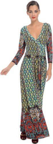 Moroccan Jersey Wrap Maxi Dress