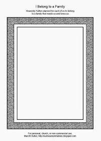 Sunbeam Printables: Frame for Lesson 25: I Belong to a Family