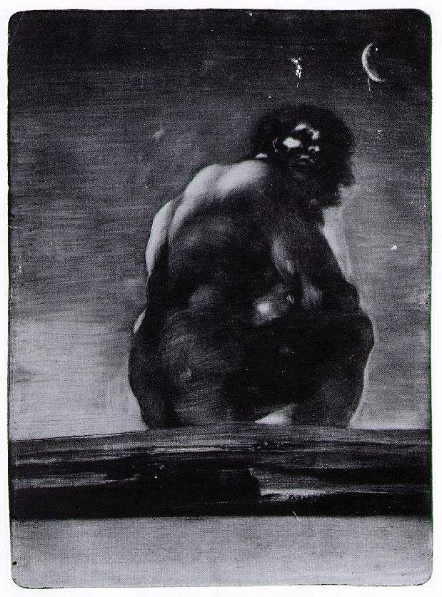 "Francisco Goya, ""Giant"", aquatint , 1818"