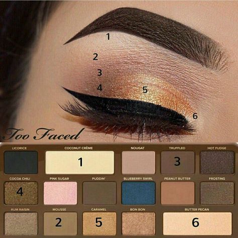 too faced semisweet chocolate bar palette tutorial