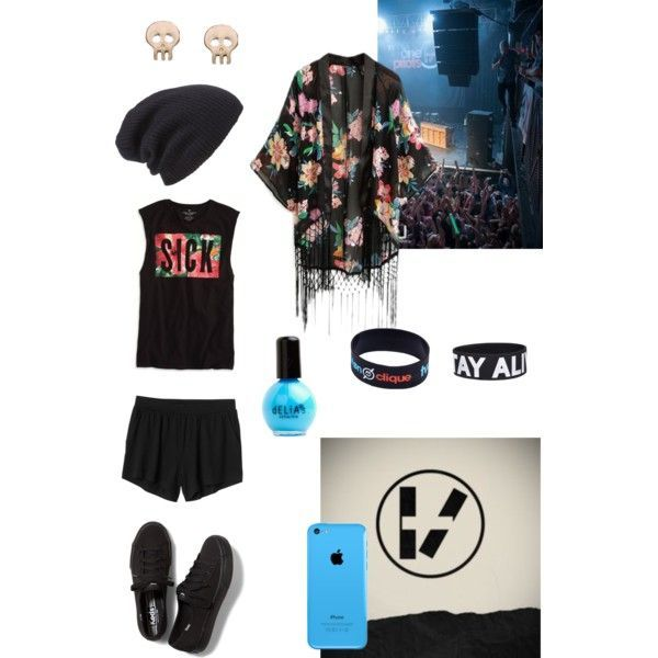 21 pilots outfit. love them soooo much omgg and i love the shirt ...