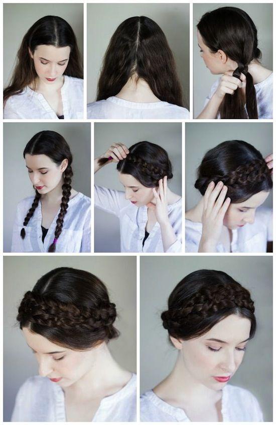 Como Peinarte Para Las Fiestas Patrias Peinados Poco Cabello Peinados Con Trenzas Peinados