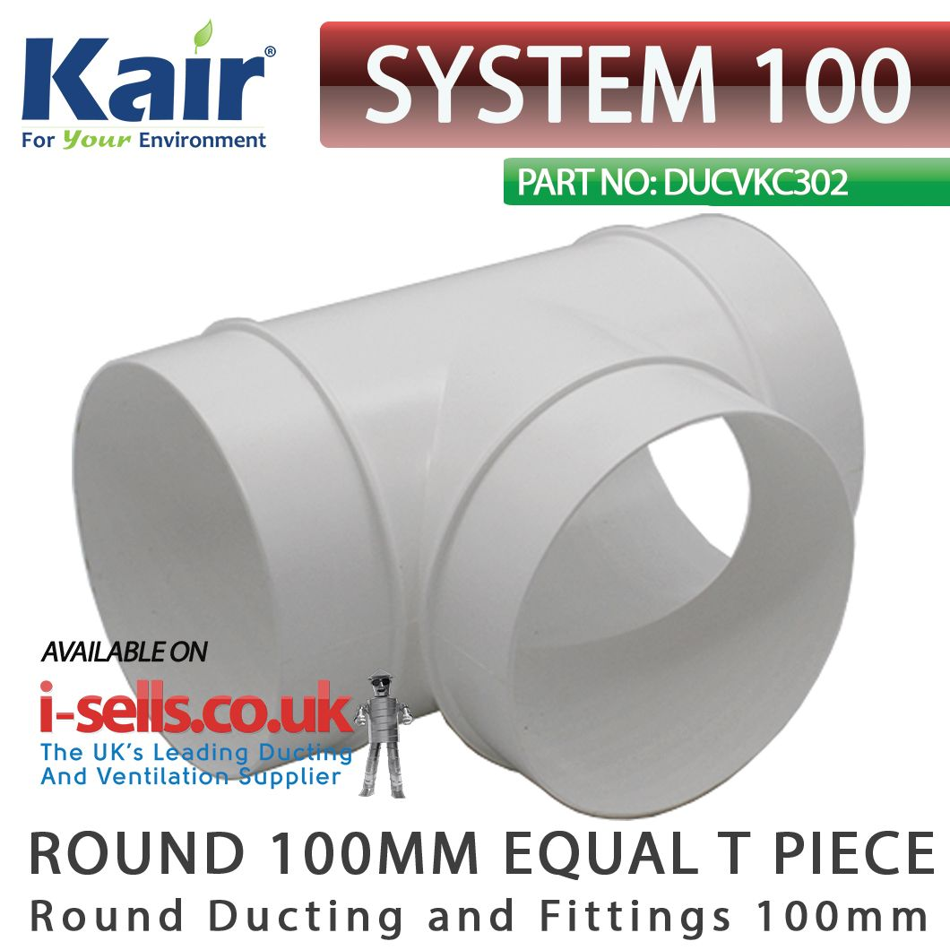 equal t junction for round ventilation pipe. can be used to duct