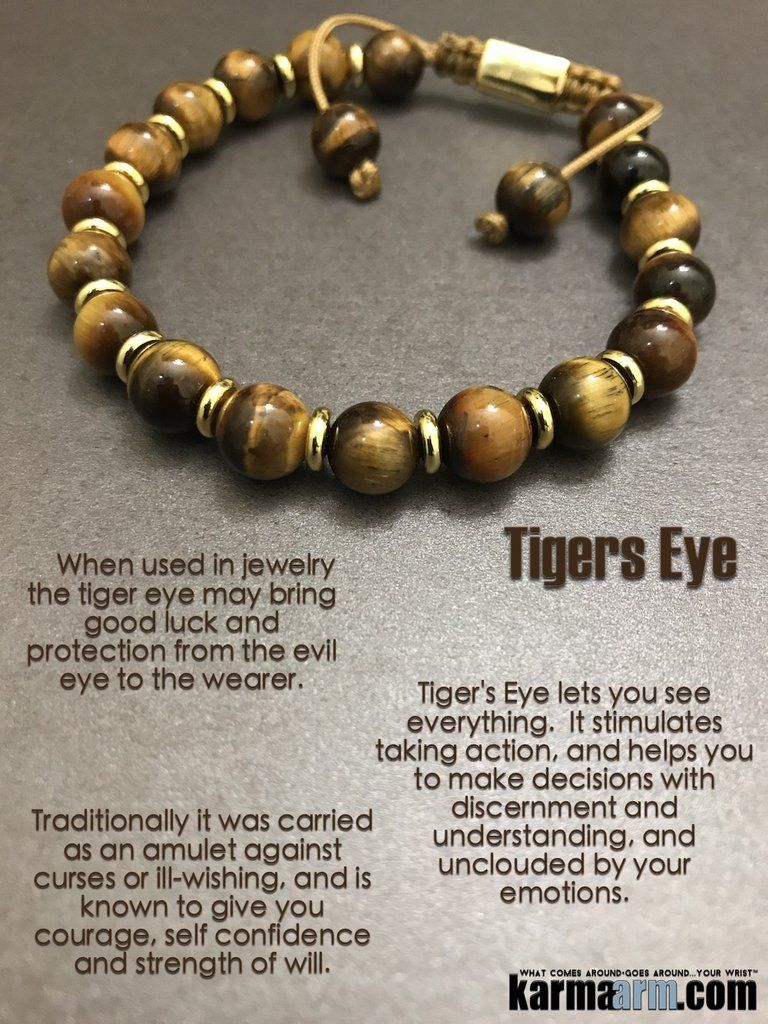 Strength Of Will Tiger S Eye Yoga Chakra Bracelet Stones And