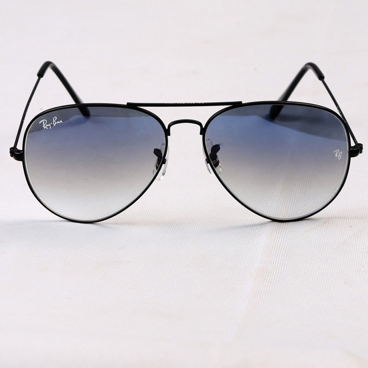 Aviator blue shade black frame Sunglasses, Black frame