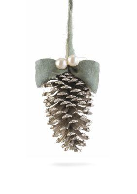 Napa Home  Garden   6-in. Vintage Glittered Pine Cone Ornament