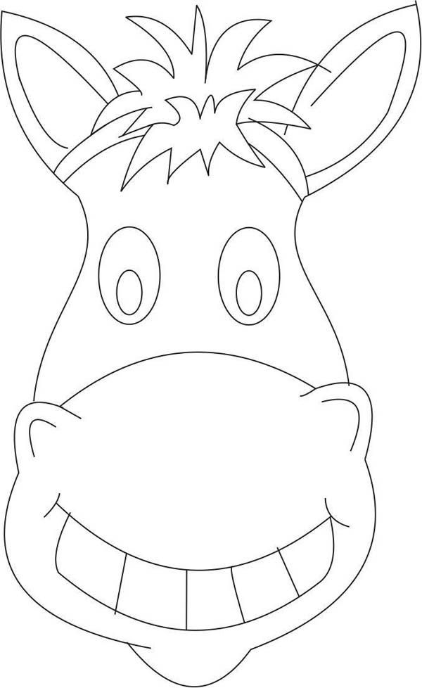 horse head coloring page # 12