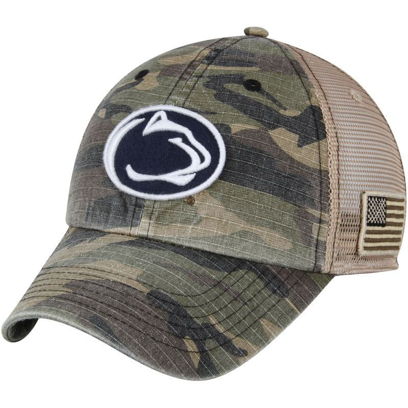 d89854a489c Penn State Nittany Lions Top of the World Declare Trucker Adjustable Hat -  Camo