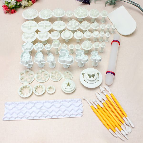 21 conjuntos de 68 piezas de la torta pasta de azúcar del molde de ...