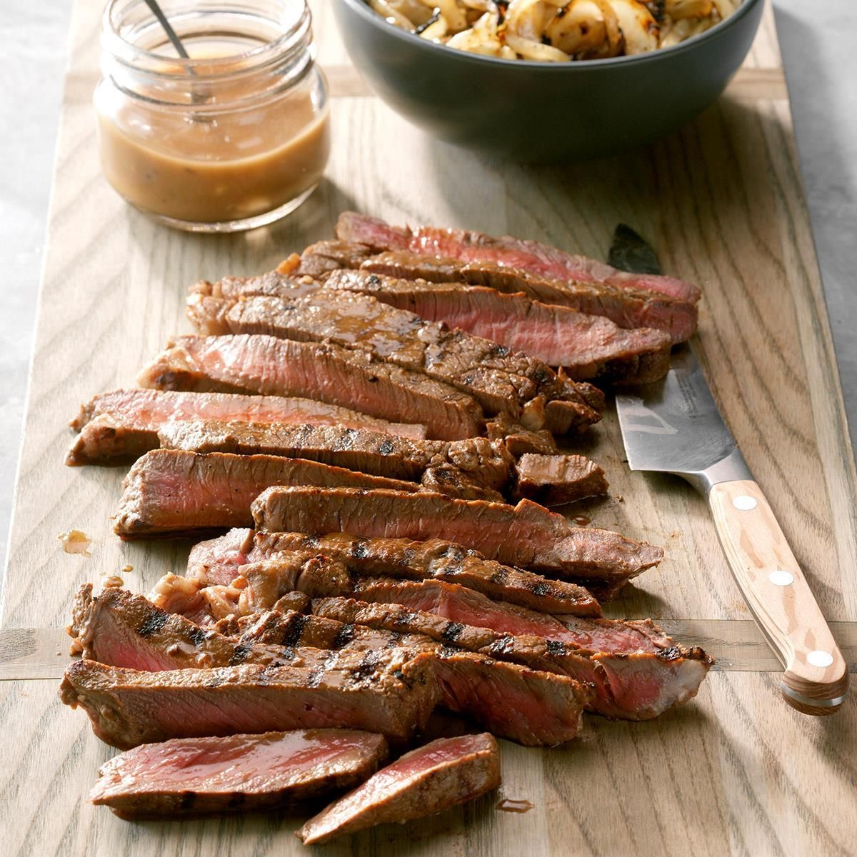 Marinated Steak With Grilled Onions Recipe Grilled Steak