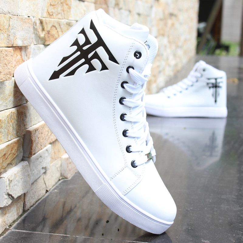White High Cut Sneakers - Casual shoes for men & women Shop at ezbuy ...
