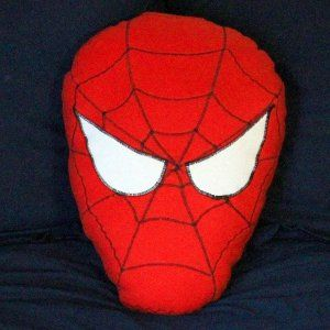When you sleep with Spider-Man under your head, you're sure to sleep soundly. Kids would love this fun kids' craft. #superherocrafts