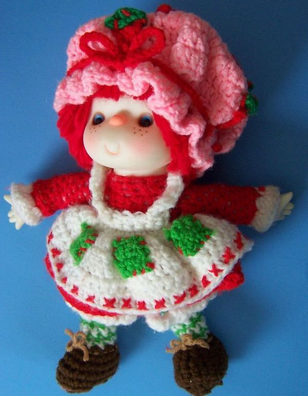 Handmade crocheted Strawberry Shortcake doll like grandma Avory use ...