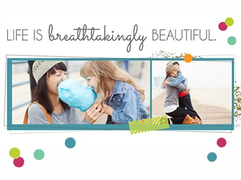 Free! With Inspiration Facebook cover image.  Light up your Facebook page with style, shine, and a love of life. Choose your layout, title, embellishment and glitter color. Follow easy upload instructions.