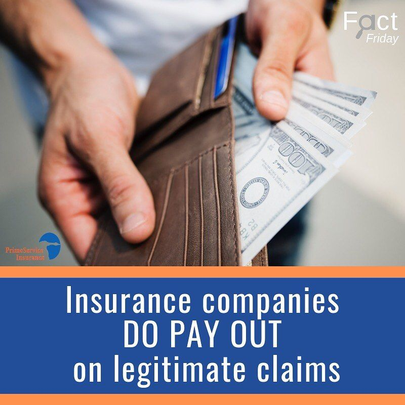Fact insurance companies will pay out on legitimate