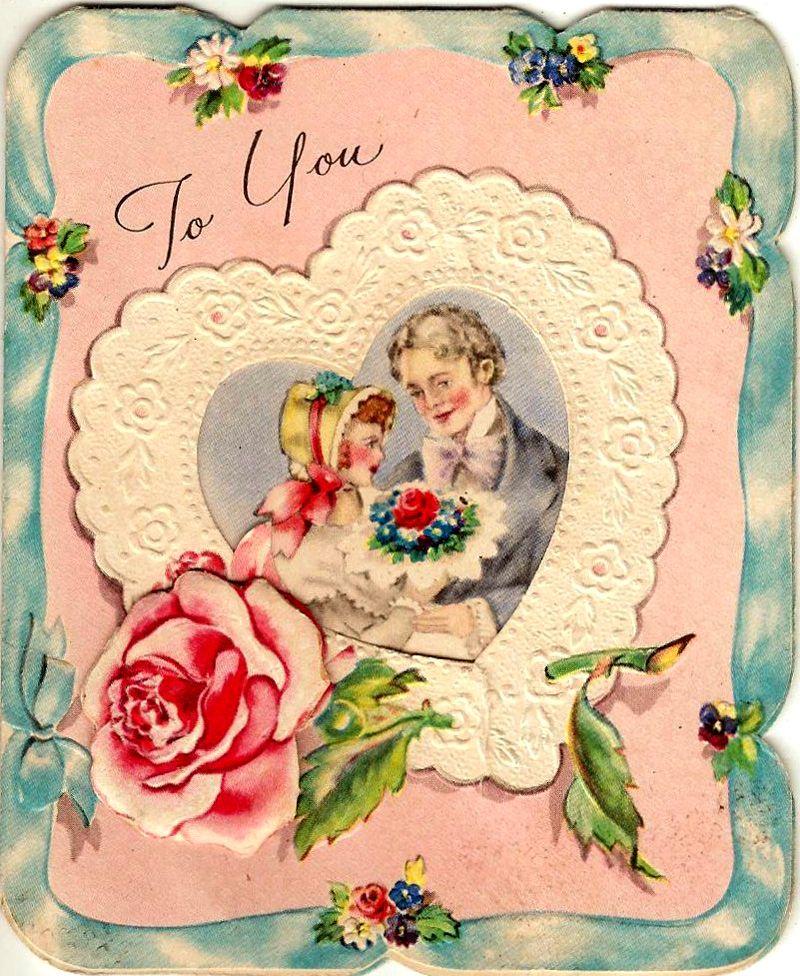 Открытка день валентина для печати
